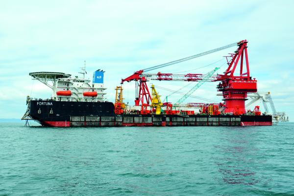 Российская «Фортуна» возобновила достройку «Северного потока — 2» в водах Дании