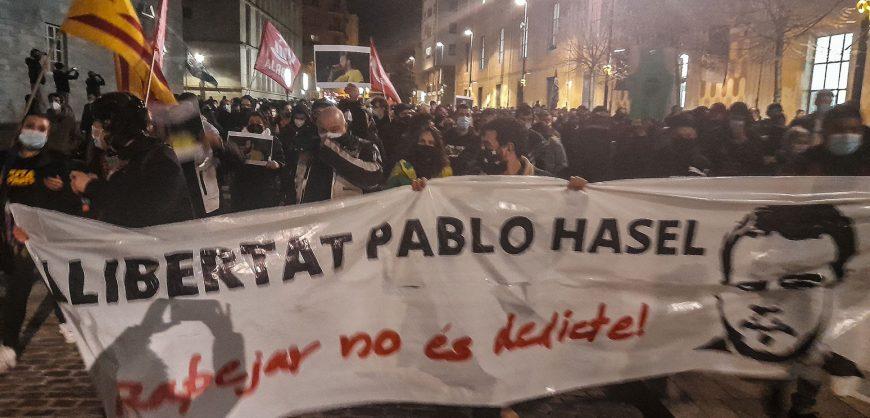 В Испании третий день продолжаются протесты против ареста рэпера, критикующего короля