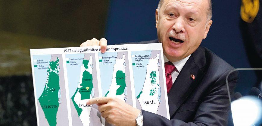 Эрдоган заявил о поддержке Турцией палестинцев. Он призвал «остановить Израиль»