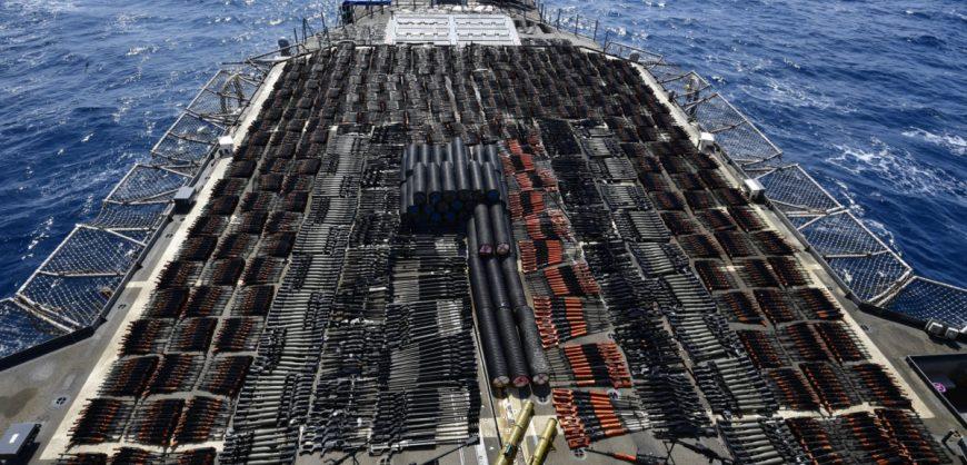 ВМС США задержали в Аравийском море судно с крупной партией российского и китайского оружия