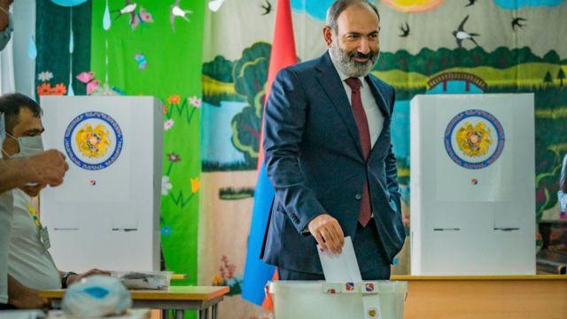 На парламентских выборах в Армении победила партия Пашиняна
