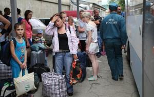 Беженцы с юго-востока Украины в Крыму