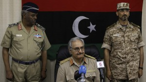 General Khalifa Haftar holds a news conference in Abyar