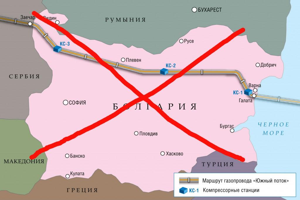 Несостоявшийся проект газопровода через Болгарию