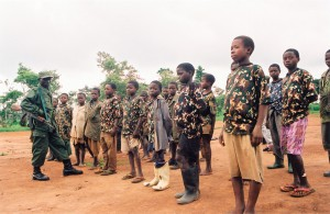 Mayi Mayi child soldiers at Mangangu 'Political Retraining Camp'