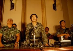 General Rios Montt announcing a coup d'état