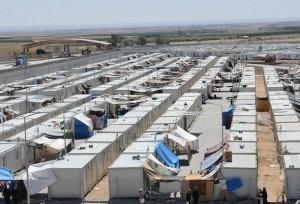 Лагерь в Германии для беженцев из Сирии