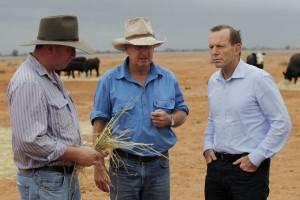 Prime Minister Tony Abbott Tours Drought Stricken Farms