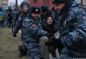 Задержание Ильдара Дадина у Минобороны 02.03.2014
