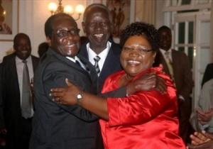 Robert Mugabe, Joseph Msika, Joyce Mujuru