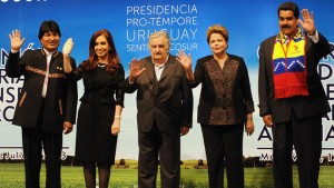 Presidents-Evo-Morales-of-Bolivia-Cristina-Fernandez-de-Kirchner-of-Argentina-Jose-Mujica-of-Uruguay-Dilma-Rousseff-of-Brazil-and-Nicolas-Maduro-of-Venezuela