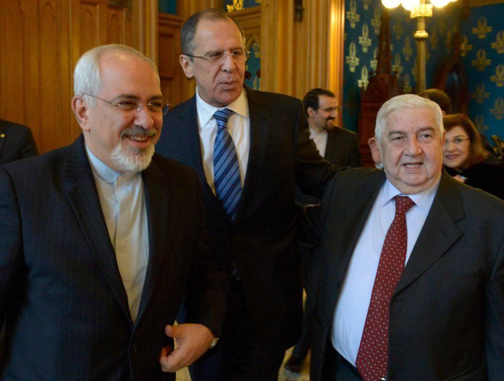 Встреча глав МИД Российской Федерации, Ирана иСирии началась в столицеРФ