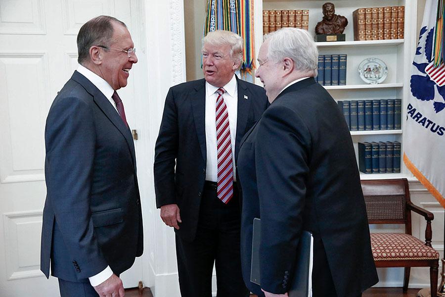 Белый дом пояснил отсутствие корреспондентов навстрече Трампа сЛавровым