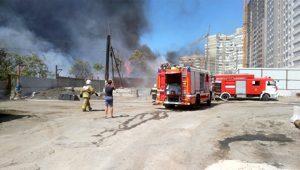 пожар в центре Ростова-на-Дону