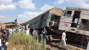 столкновения двух поездов в Египте