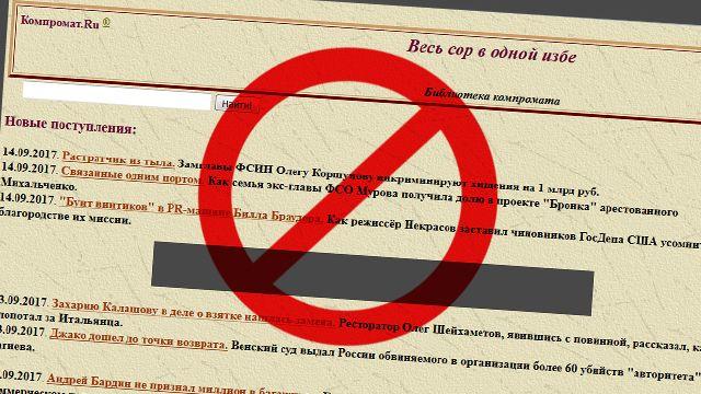 РКН заблокировал сайт «Компромат.ру», публиковавший личные данные