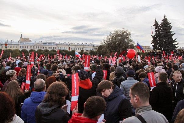 в несанкционированной акции в Петербурге
