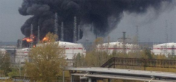 пожаре на заводе «Лукойл-Нижегороднефтеоргсинтез»