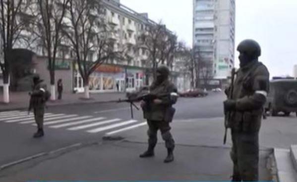 перекрыли часть улиц в центре Луганска