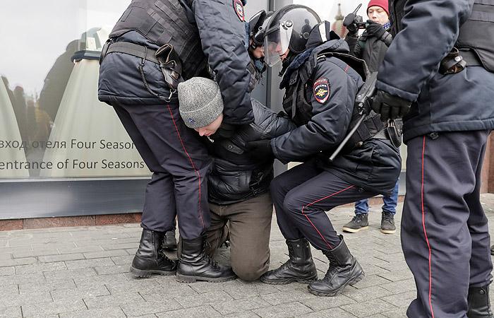 МВД: Нанесанкционированной акции в Москве  5ноября задержано 302 человека