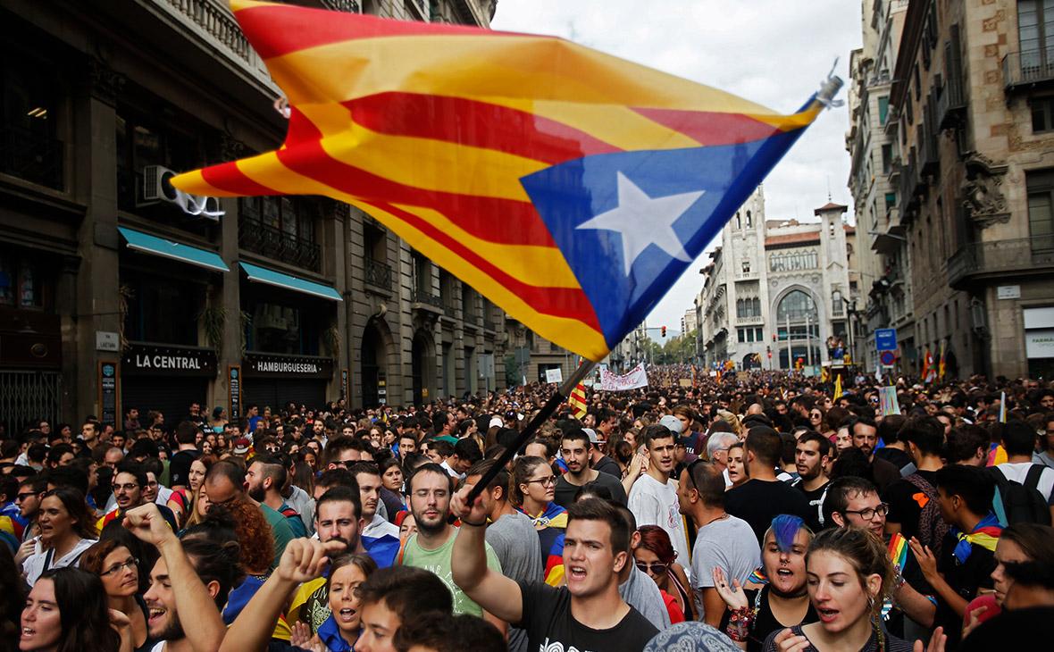 самая масштабная забастовка в Каталонии