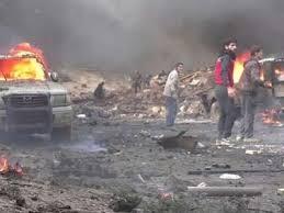 взрыва бомбы в лагере беженцев