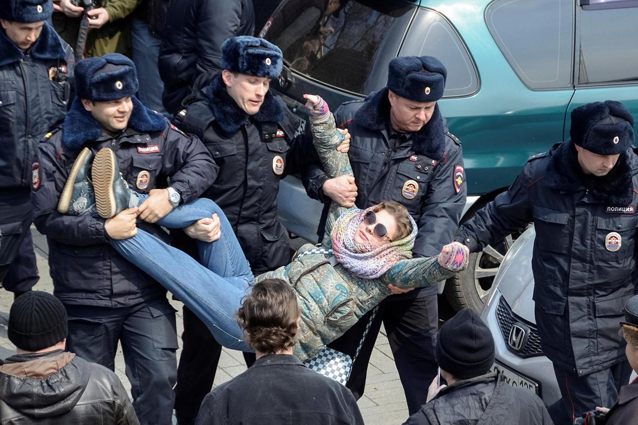 задержания на акции 26 марта