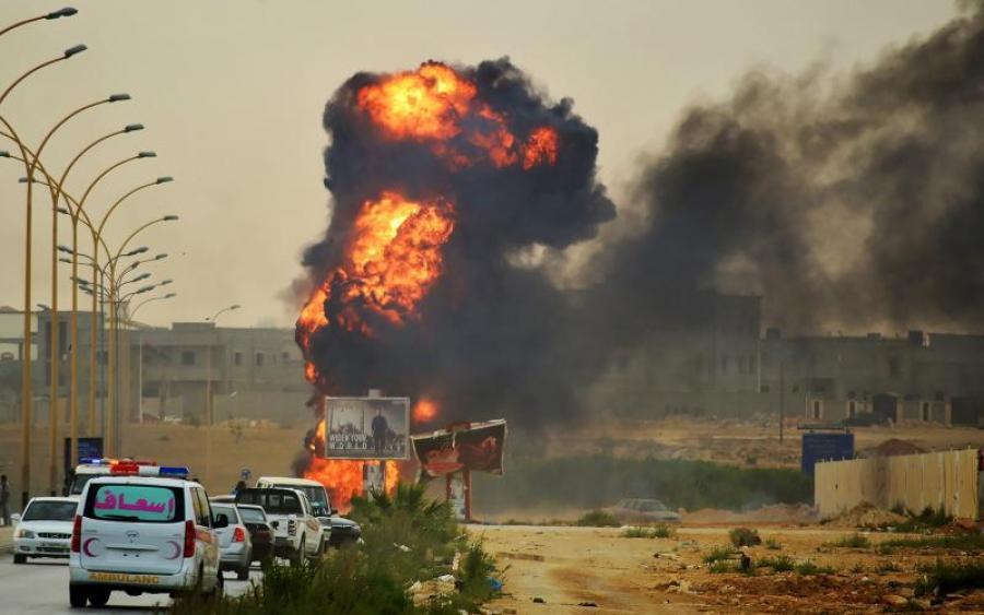 взрыв в городе Аден