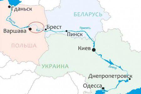 Украина планирует соединить Чёрное и Балтийское море водным путём