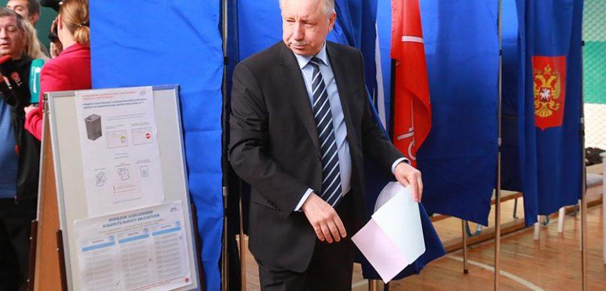 Беглов лидирует на выборах губернатора Петербурга