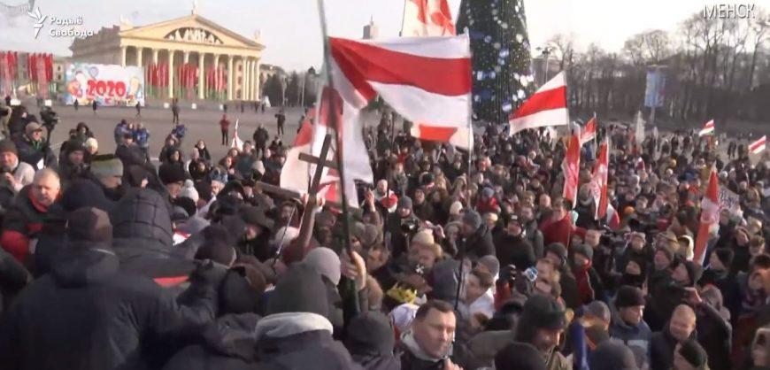 В Минске проходит акция оппозиции против объединения с Россией