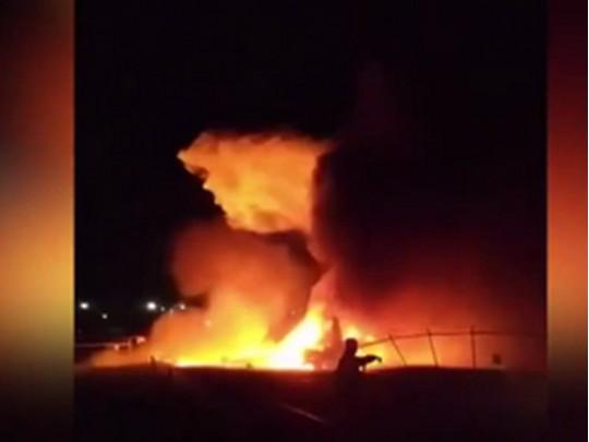 В аэропорту Манилы при взлете сгорел самолет с медиками и пациентом
