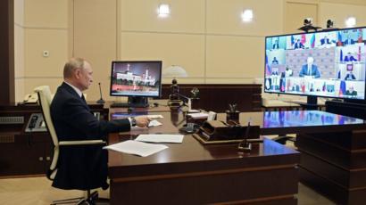 Путин в третий раз обратился к россиянам из-за ситуации с коронавирусом