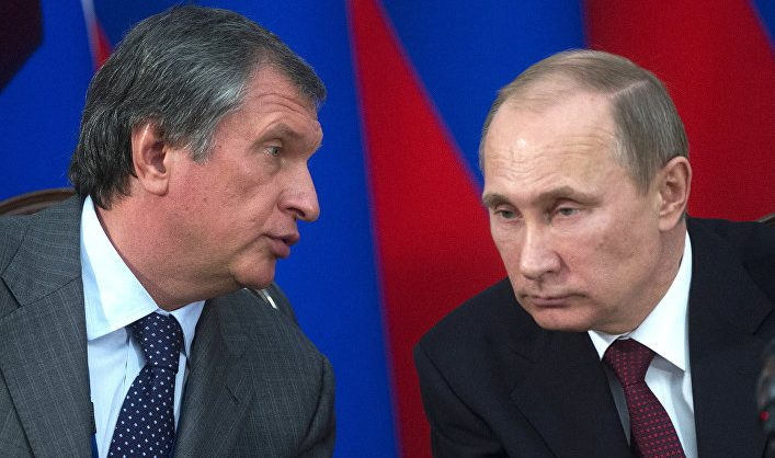 Сечин попросил у Путина господдержку для «Роснефти»