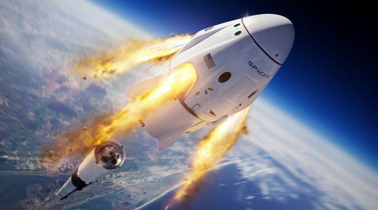 Американцы запустили астронавтов к МКС на космическом корабле Crew Dragon