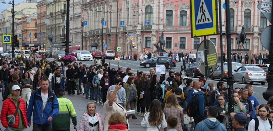 В Москве и Петербурге прошли акции против поправок к Конституции