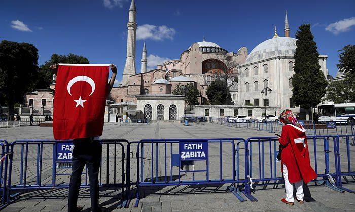 Госсовет Турции вернул статус мечети собору Святой Софии в Стамбуле