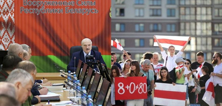 Лукашенко надеется на военную помощь Путина