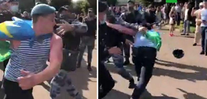 В Москве на праздновании ВДВ десантники подрались с росгвардейцами