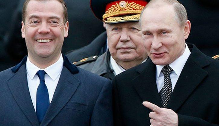 Путин в день рождения Медведева наградил его орденом «За заслуги перед Отечеством»