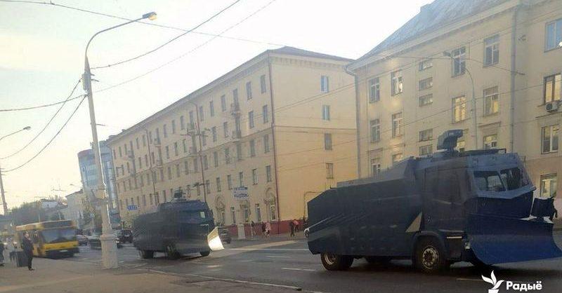 В Минске силовики применили водомёты для разгона протестующих против инаугурации Лукашенко