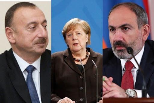 Меркель провела переговоры по Карабаху с руководителями Армении и Азербайджана