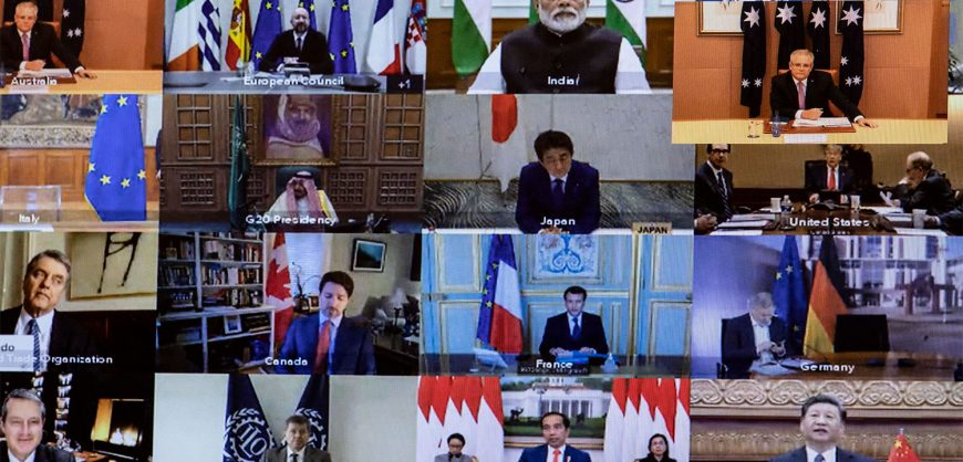 В Эр-Рияде проходит виртуальный саммит G20. Главный вопрос — пандемия