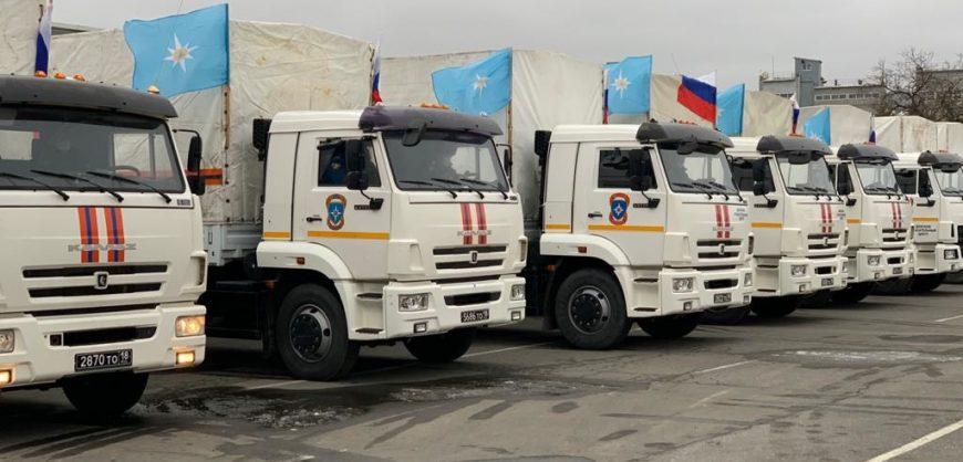 В Нагорный Карабах прибыла первая колонна с гуманитарной помощью из России