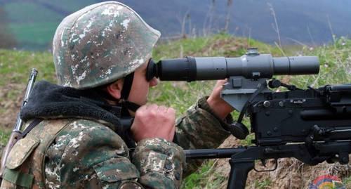 Армия Карабаха сообщила о нападении азербайджанских военных на пост армии обороны НКР