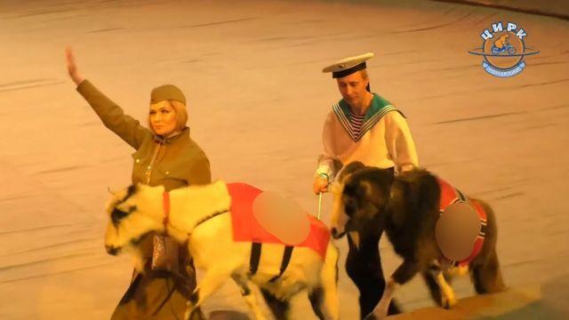 РПЦ устроила в Ижевске цирковое шоу с животными в нацистской форме