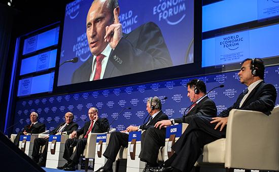 Путин выступил с речью на экономическом форуме в Давосе