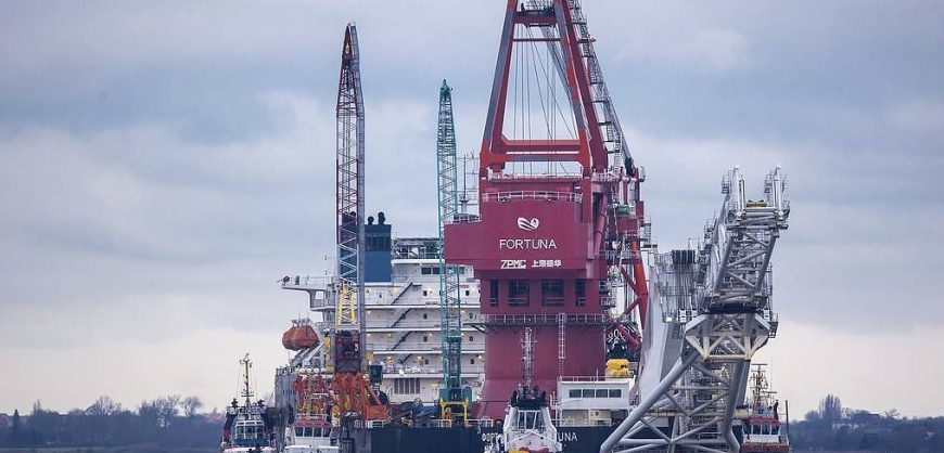 «Газпром» возобновил строительство «Северного потока – 2» в водах Дании