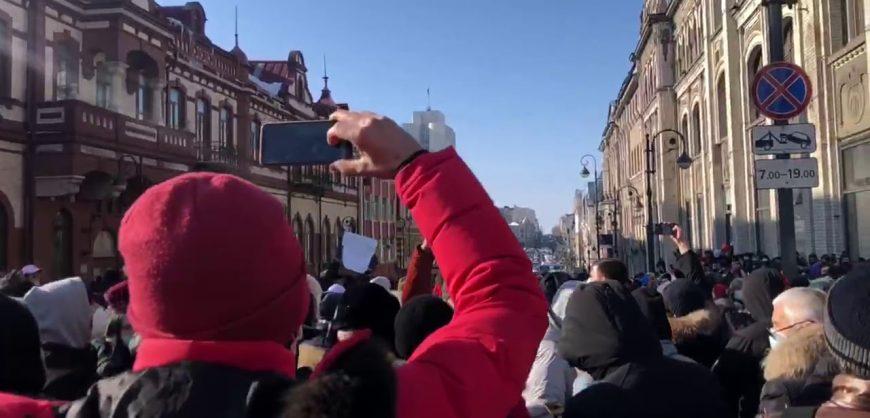На Дальнем Востоке проходят акции в поддержку Алексея Навального